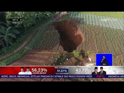 Lubang Raksasa Muncul Tiba-Tiba di Sukabumi Disertai Dentuman NET12