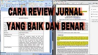 Cara Review Jurnal Yang Baik dan Benar