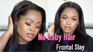 DETAILED! No Baby Hair Needed Frontal Slayage(How To) | Asteria Hair
