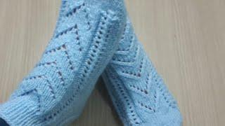 İki şişli ajurlu çorap  patil yapılışı