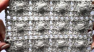 Филейный узор с пышными столбиками