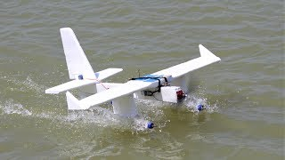 How to make a airplane - flying plastic bottle aeroplane - seaplane