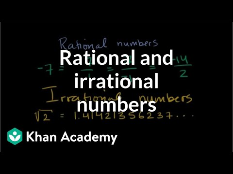 (8.NS.A.1)Recognizing rational and irrational numbers