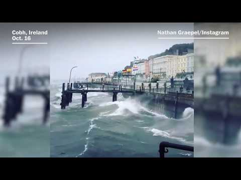 Video of Storm Ophelia in Ireland