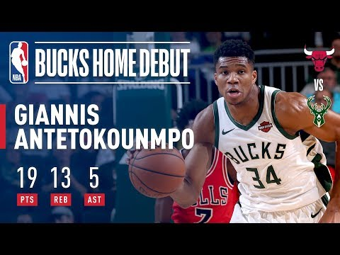 Giannis Stuffs The Stat Sheet (19p, 13r, 5a) In Just 22 Mins of Game Action! | 2018 NBA Preseason