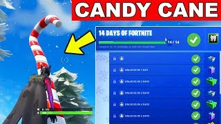 Day 2 Reward Visit Giant Candy Cane 14 Days Of Fortnite