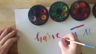 Watercolor Lettering & Blending