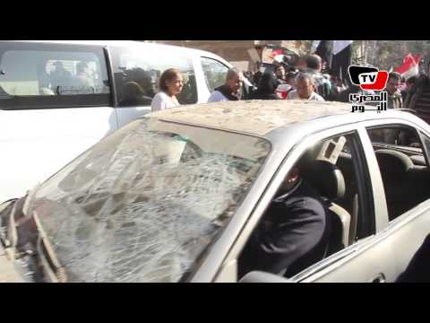 المعمل الجنائي يعاين موقع إنفجار«مندوبى الشرطة»