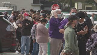 Long lines as early voting starts in Louisiana