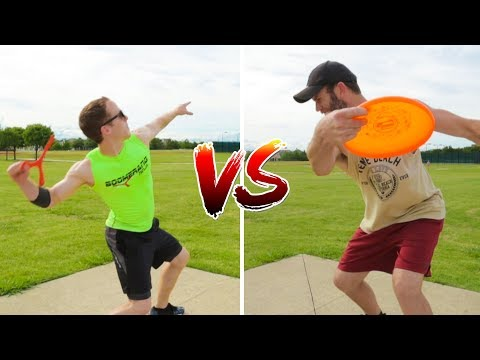 Frisbee Boomerang Trick Shot Battle | Brodie Smith