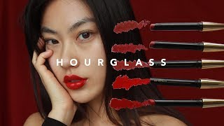 Hourglass Ultra Slim Lipstick Swatches | Haley Kim