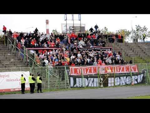 Kibice Widzewa w Olsztynie na meczu ze Stomilem