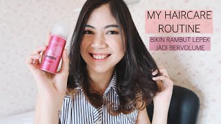HAIRCARE ROUTINE || LEPEK JADI BERVOLUME Video thumbnail