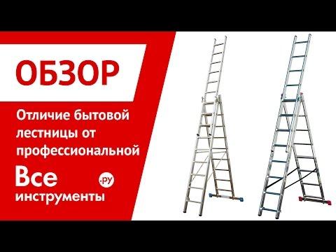 Стремянки. Чем профессиональная лестница отличается от бытовой
