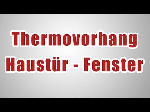 Thermovorhang Haustür - Wärmeschutzvorhänge - Türvorhang - Kälteschutzvorhang