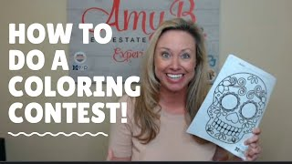 How to do a Coloring Contest