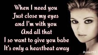 Celine Dion When I Need You Music