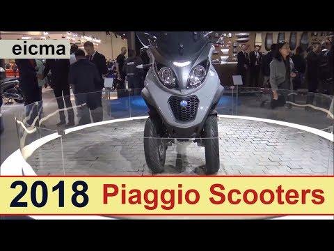 The 2018 Piaggio Scooters.!!!