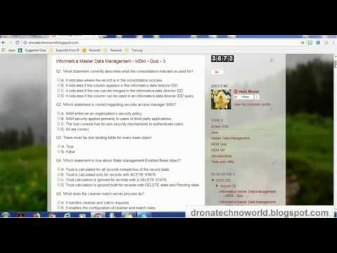 Informatica MDM Certification Quiz online now! - YouTube
