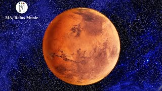 Mars in 4K, Calming Music and Beautiful View of Mars, Fly Awey and Relief All Your Stress,