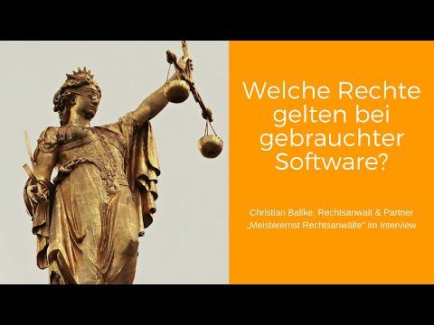 RA Christian Ballke zu rechtlichen Grundlagen des Gebrauchtsoftware-Handels