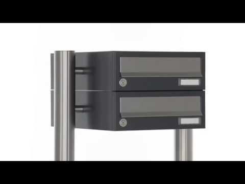 BML Briefkastenanlage freistehend, senkrecht Design BASIC 385-7016VA