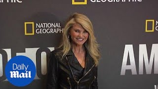 Christie Brinkley looks fabulous in leather at New York Premiere - Daily Mail
