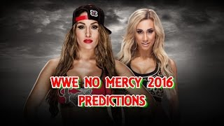 WWE No Mercy 2016 Nikki Bella vs. Carmella Predictions