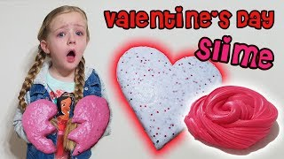 Valentines Day Slime With my Babysitter! Did it Work?!?!