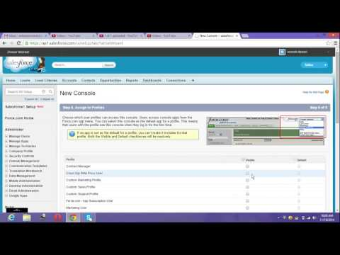How to create Console Application in sales force