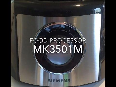 Siemens MK3501M - food processor - Küchenmaschine   in action unboxing