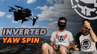 Learning INVERTED YAW SPINS with DJI FPV Drone - First Flight to Freestyle