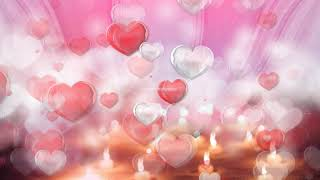 love motion background | romantic background effect | heart flying effect video | heart background