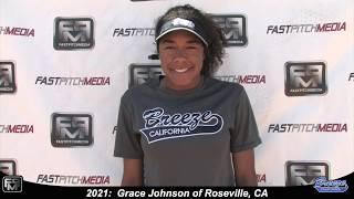 2021 Grace Johnson Speedy Slapper, Athletic Outfielder & 2nd Base Softball Skills Video - Ca Breeze