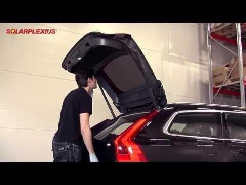 Aanbrengen Solarplexius auto zonwering en privacy bescherming