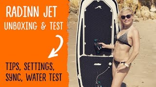 Radinn Jet SurfBoard UNBOXING, first look, excitement & frustration
