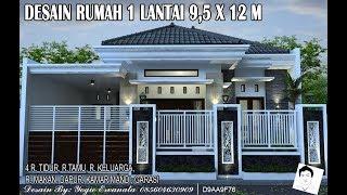 Desain Rumah Minimalis Sederhana 1 Lantai 3 Kamar Tidur 7 X 12 Full