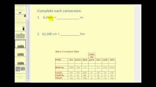 Metric Unit Conversion