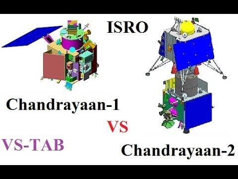 Chandrayaan 1 VS Chandrayaan 2 || VS TAB