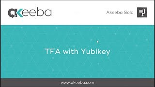 Watch a video on TFA with Yubikey [02:14]