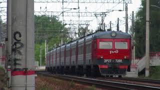 Электропоезд ЭР2Т-7200 перегон Апрелевка-Селятино 26.06.2018