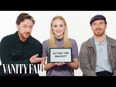 Sophie Turner James McAvoy and Michael Fassbender Teach You English Scottish and Irish