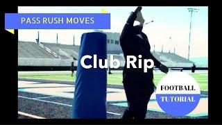THE CLUB RIP – Pass Rush Moves – Defensive Line Drills – American Football Tutorial