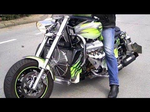Boss Hoss 110 mph burnout | Videos | custom-bike com