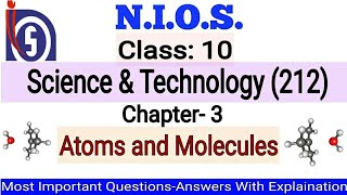 NIOS || Class-10th || Science & Technology || Chapter-3