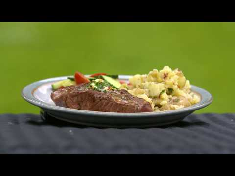 Easy BBQ Lamb Leg Steaks with Chilli Butter