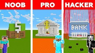 Minecraft NOOB vs PRO vs HACKER : SECURE BANK CHALLENGE in minecraft / Animation