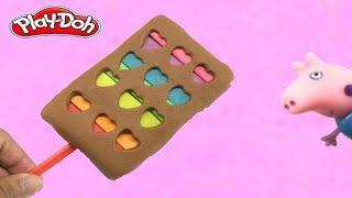 Peppa pig  Play Doh Ice Cream Rainbow ไอศครีมแป้งโดว์และตัวเลข | ปั้นแป้งโดว์ ไอศครีม
