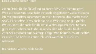 Deutsche Brief A1 A2 B1 Prüfung 34 самые популярные видео