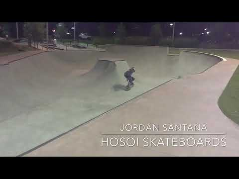 Jordan Santana , SICK TRANSFER at North Houston Skatepark, Hosoi Skateboards